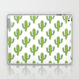 Hand painted green black white floral cactus Laptop & iPad Skin