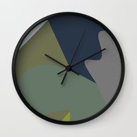 reassurance Wall Clocks featuring Pattern 1 by Magdalena Hristova