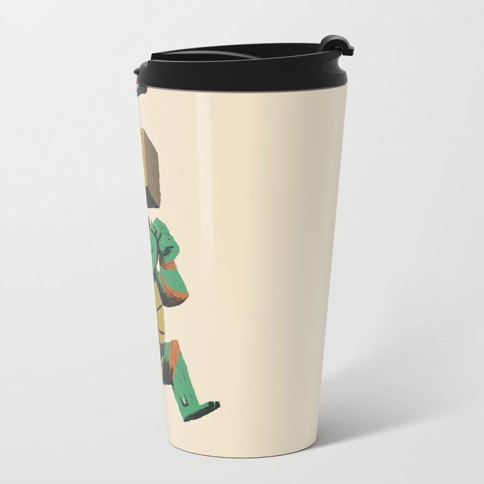turtle power..up Metal Travel Mug