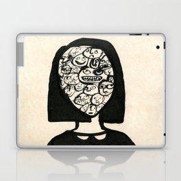 little girl is being moody Laptop & iPad Skin