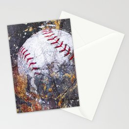 Baseball Art 5 Stationery Cards