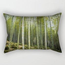 Bamboo Forest in Green Rectangular Pillow
