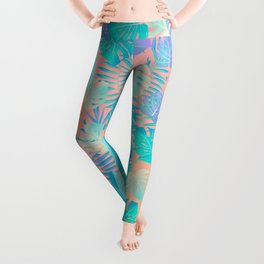 Tropics ( monstera and banana leaf pattern ) Leggings
