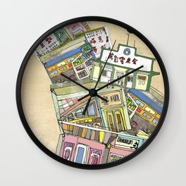 old houses Wall Clock