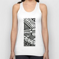 zentangle Tank Tops featuring Zentangle by Wealie