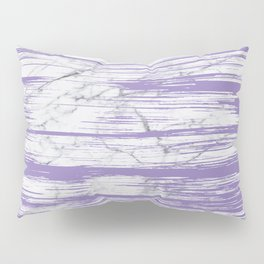 Modern abstract violet watercolor brushstrokes marble pattern Pillow Sham