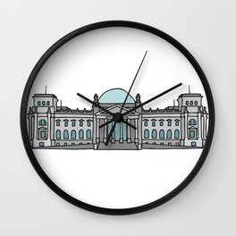 Reichstag building in Berlin Wall Clock