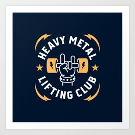 Heavy Metal Lifting Club (Yellow) Art Print