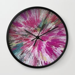 Abstract flower pattern 3 Wall Clock
