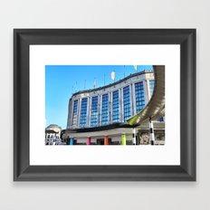 Brussels Central Rail Station Framed Art Print