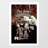 rock n roll Art Prints featuring Rock 'N' Roll Circus by Melissa Morrison