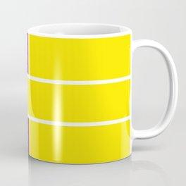 Team Colors 6....Yellow,purple Coffee Mug