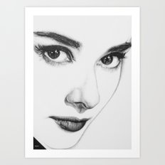 Audrey Hepburn (minimal) Art Print