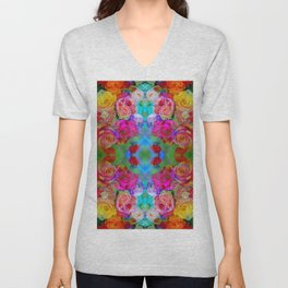 flowers from farmers market with mom Unisex V-Neck