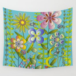 Petty Flowers Pattern 3 Wall Tapestry