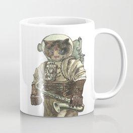 Space Cat with Saxophone Coffee Mug
