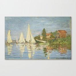 Regattas at Argenteuil by Claude Monet Canvas Print