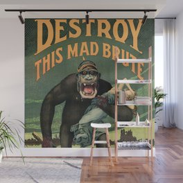 1917 WWI U.S. Army - Destroy this mad brute Enlist - Recruitment Poster by Harry R. Hopps, Wall Mural