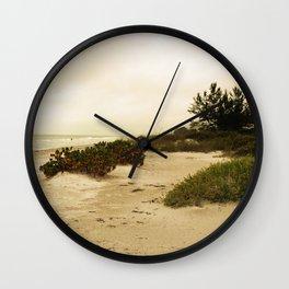 Golden Dunes Wall Clock