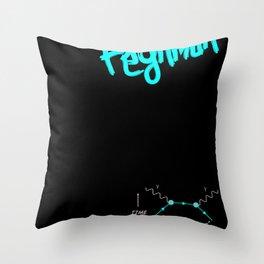 Study Hard Throw Pillow