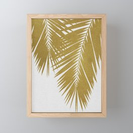 Palm Leaf Gold II Framed Mini Art Print