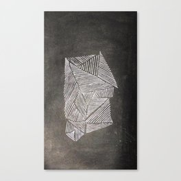 Black and White  Lines Canvas Print
