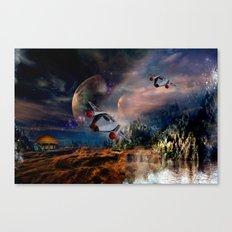 Planetary Encounter Canvas Print