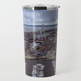 Swansea Bay and River Tawe Marina South Wales Travel Mug