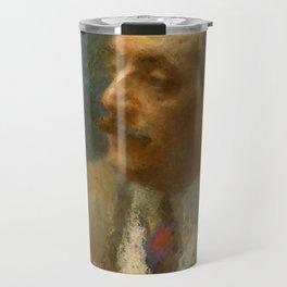 Giacomo Puccini (1858 – 1924) by Arturo Rietti in 1906 Travel Mug