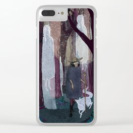 Ghosty Woods Clear iPhone Case