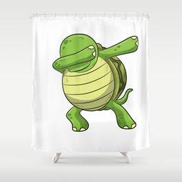 Dabbing Turtle Shirt Turtles Tortoise Dab Kids Shower Curtain