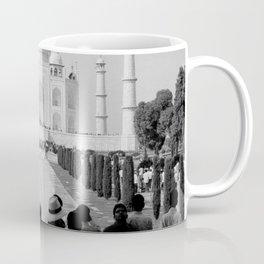 Taj Mahal with people Coffee Mug