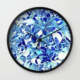 Blue sakura Wall Clock