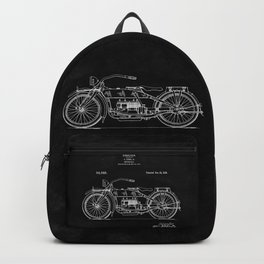 Motorcycle Blueprint 1919 Backpack
