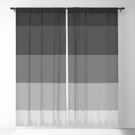 Soft Gray Stripes in Perfect Balance Blackout Curtain