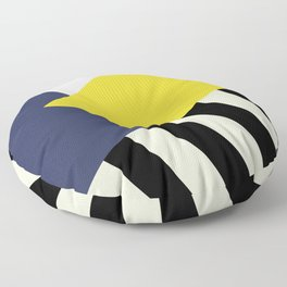 Bold Yellow Memphis Triangle Floor Pillow