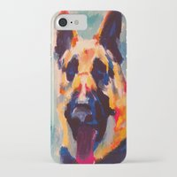 german shepherd iPhone & iPod Cases featuring German Shepherd by Heather Hartley