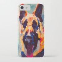 german iPhone & iPod Cases featuring German Shepherd by Heather Hartley