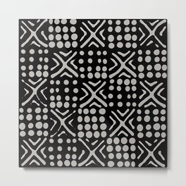 Abstract african black and white pattern Metal Print