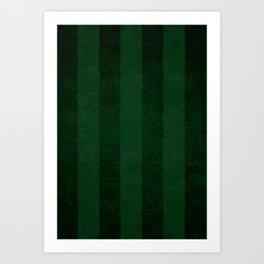 Emerald Stripes Art Print