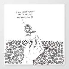 I Will Never Forget That It Was You Who Found Me Canvas Print