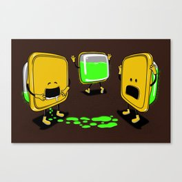 Radioactive Tupper Canvas Print