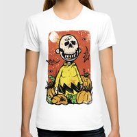 charlie brown T-shirts featuring Charlie Brown - The Original Pumpkin King by Neil McKinney