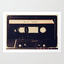 mix tape Art Print