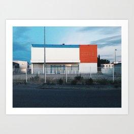 Deprecated building Art Print