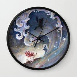 A fearless girl Wall Clock