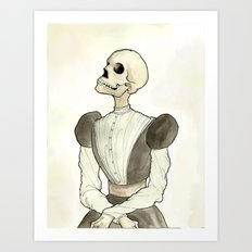 Skeleton Daguerreotype Art Print