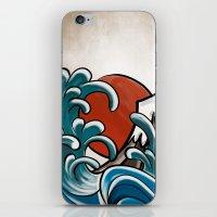 hokusai iPhone & iPod Skins featuring Hokusai comic by Nxolab