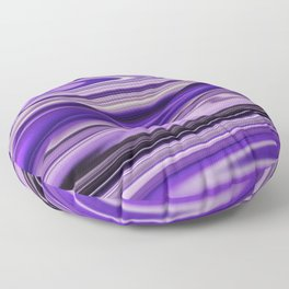 Purple Waves Abstract Art, Digital Fluid Art Ripples Blend Floor Pillow