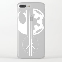 Galactic Emblems Minimalist T-Shirt Clear iPhone Case